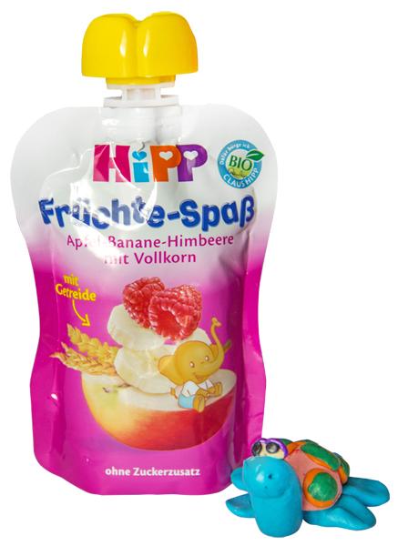 HIPP Яблоко-банан-малина-злаки