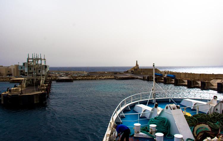 Остров Гозо. Вид на бухту с парома